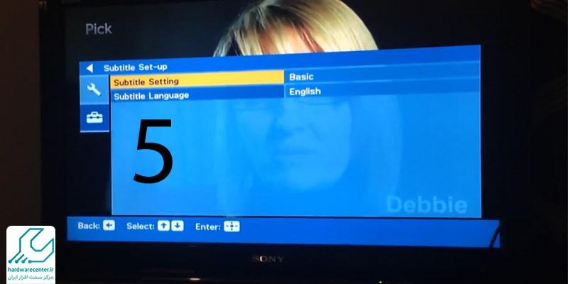 تنظیمات تلویزیون سونی