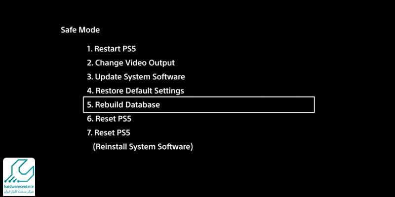 نمایش تصویر سیاه در PS5